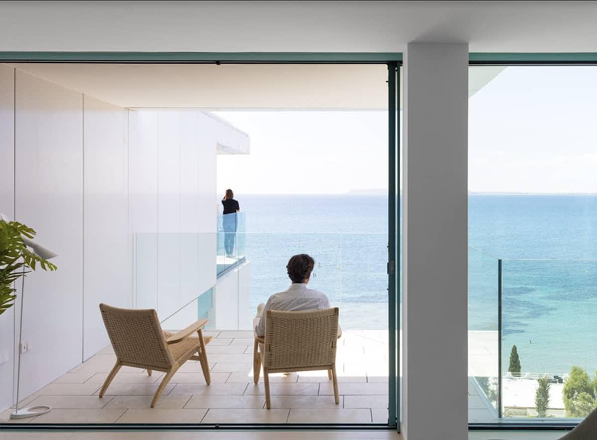 Interior de Almadraba II, una vivienda en la playa. Alicante